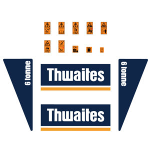 Thwaites 6 Tonne Decal Set
