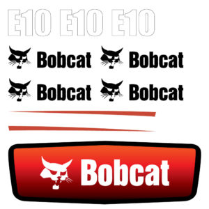 Bobcat E10 Decal Set