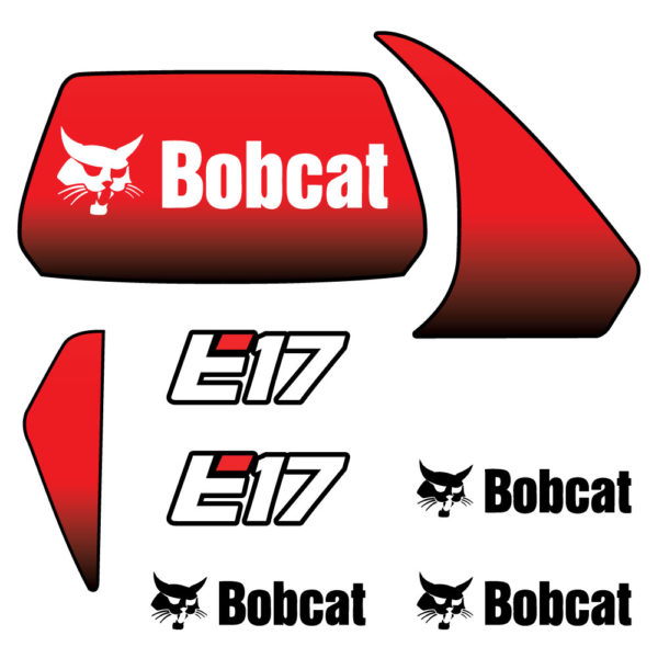Bobcat E17 Decal Set