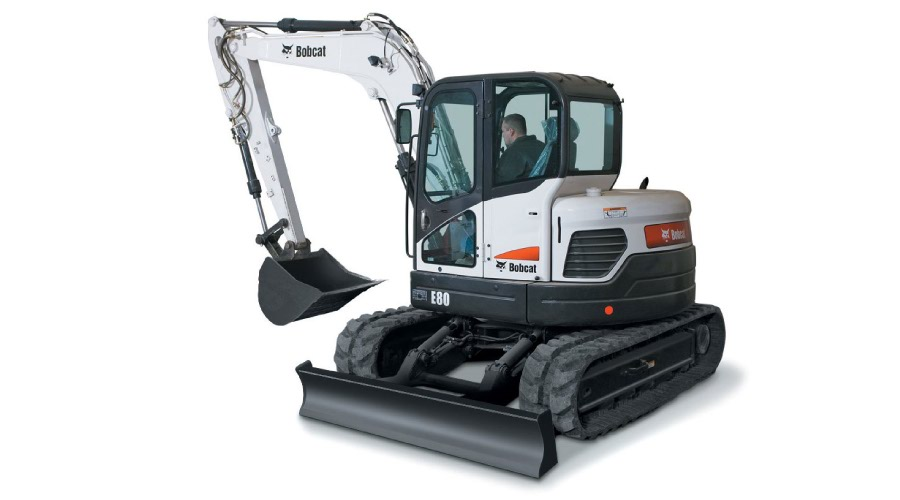 Bobcat E80 Decal Set on excavator