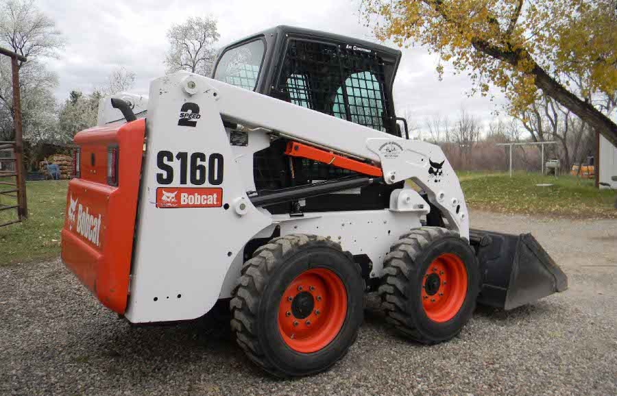 Bobcat S160 Decal Set on skid steer loader