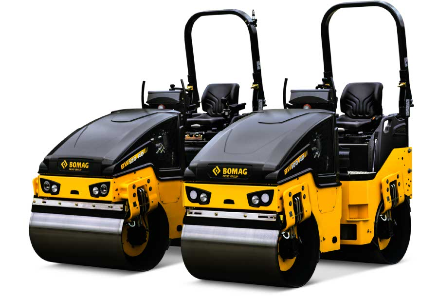 Bomag BW120ADH Decal Set on rollers