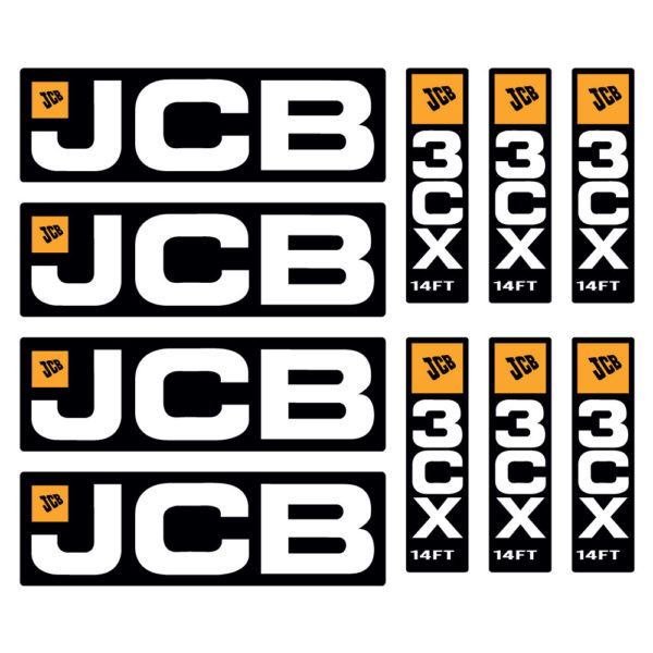 JCB 3CX Decal Set
