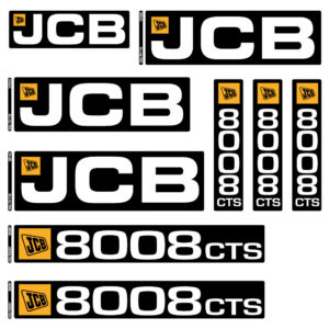 JCB 8008CTS Decal Set