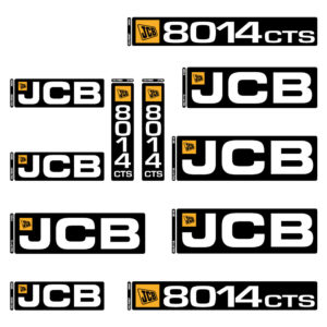 JCB 8014CTS Decal Set