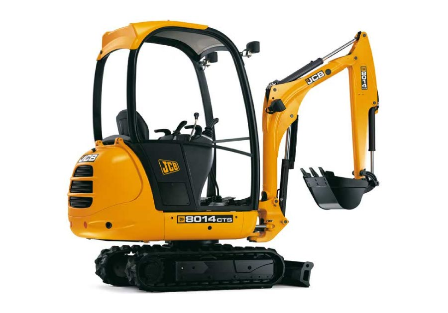 JCB 8014CTS Decal Set on digger