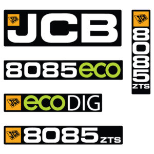 JCB 8085ECO Decal Set