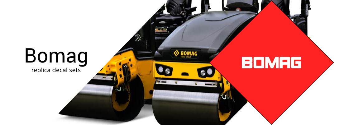 Replica Bomag Decal Sets