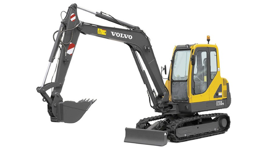 Volvo EC55C Pro Decal Set on excavator