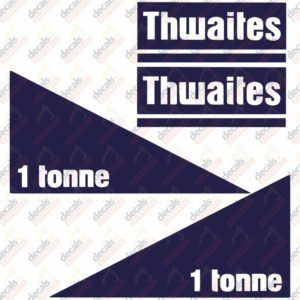 Thwaites 1 Tonne Decal Set