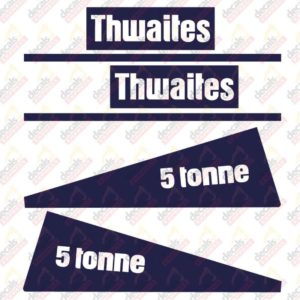 Thwaites 5 Tonne Decal Set