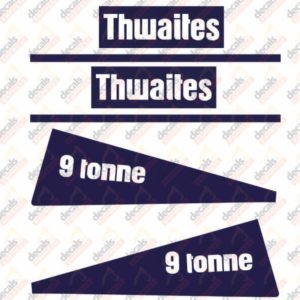 Thwaites 9 Tonne Decal Set