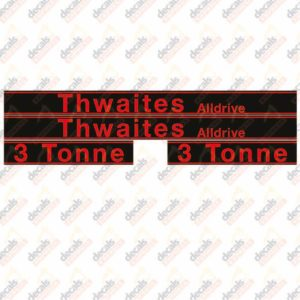 Thwaites Alldrive 3 Tonne Decal Set