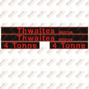 Thwaites Alldrive 4 Tonne Decal Set