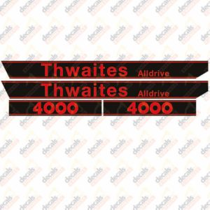 Thwaites Alldrive 4000 Decal Set